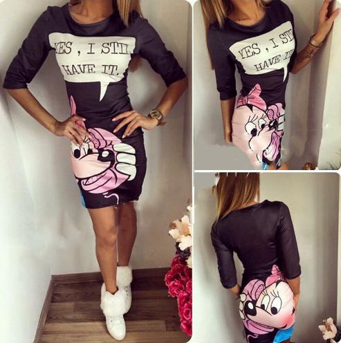 Dámské šaty s Minnie