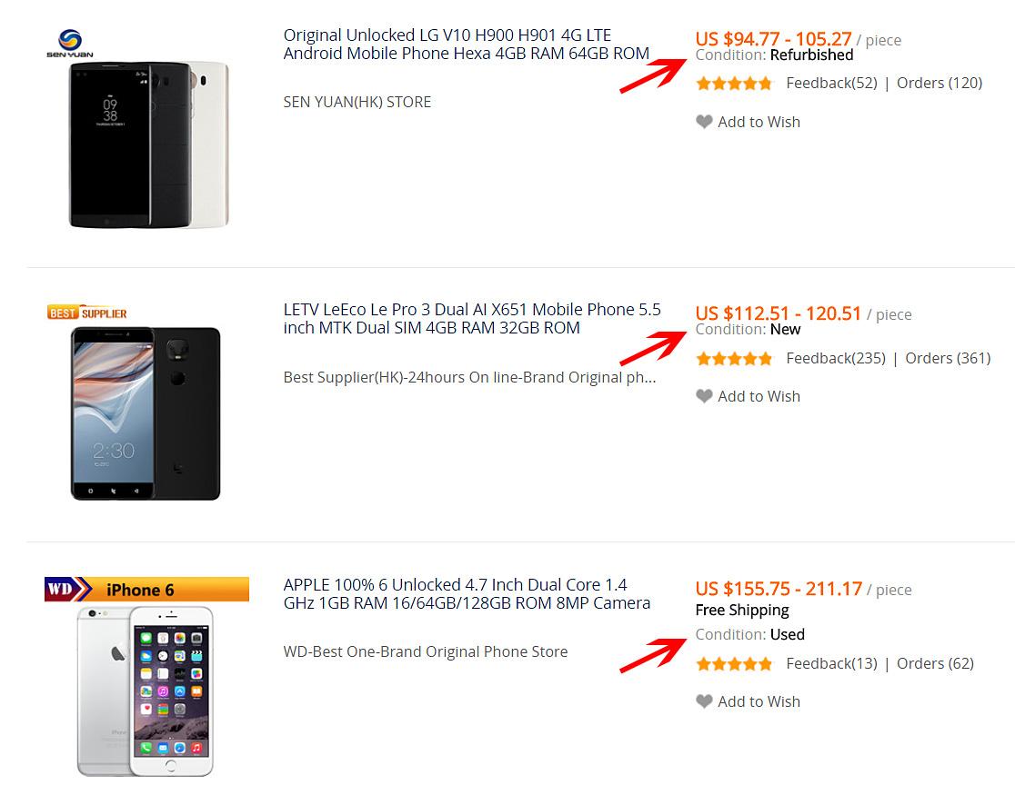 Nákup mobilu na AliExpress