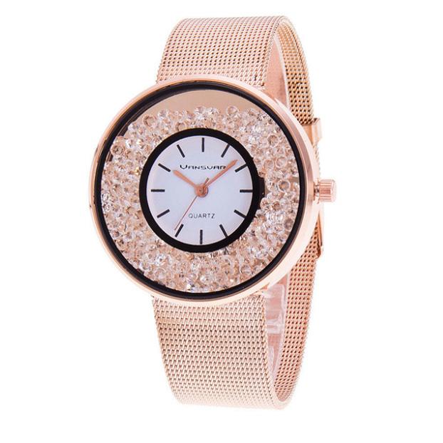 Dámské hodinky s kamínky AliExpress
