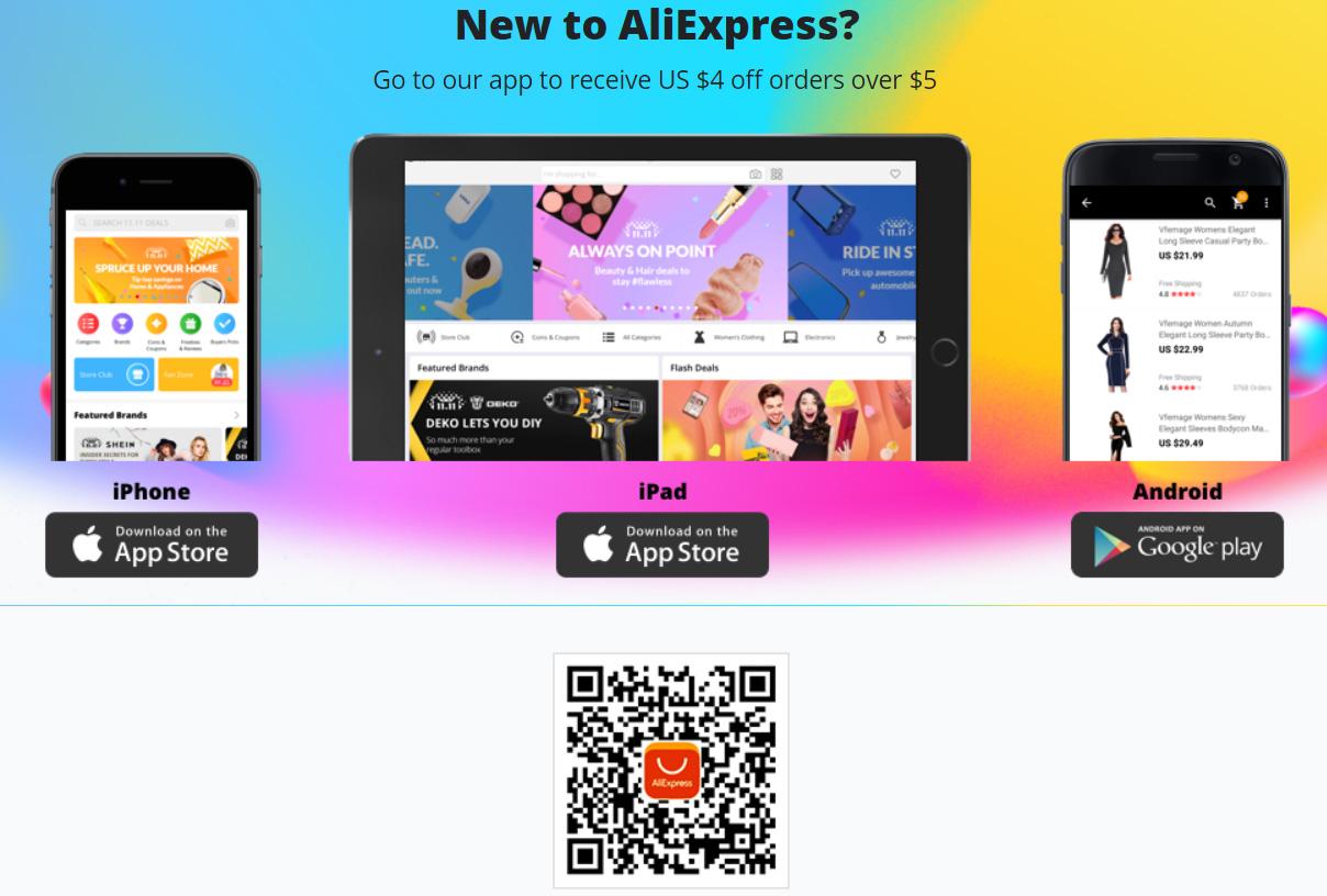 Mobilní aplikace AliExpress