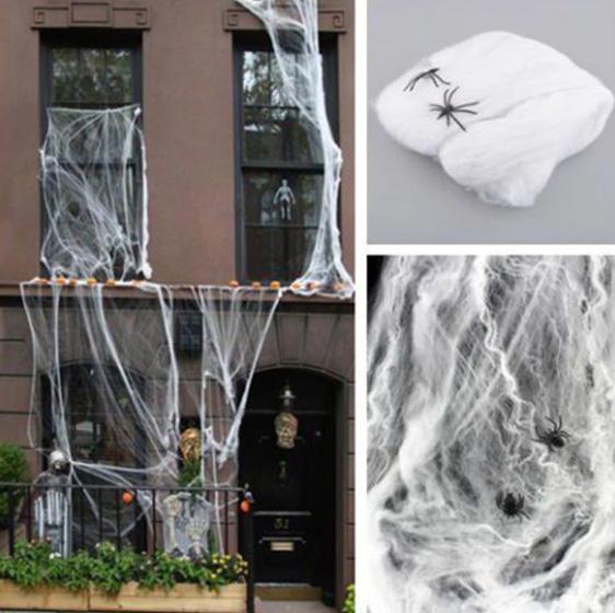 Pavučina na ozdobení domu