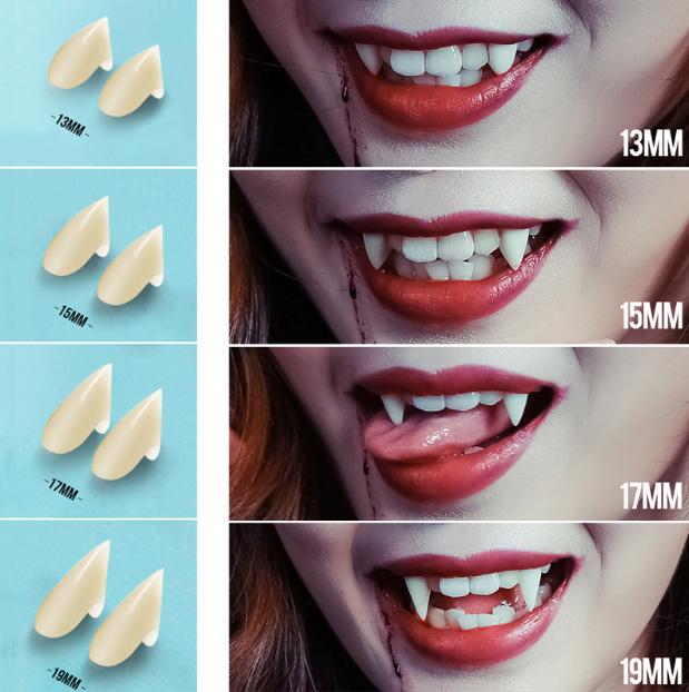 Upíří zuby na Halloween z AliExpress