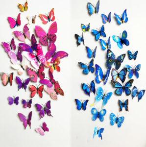 Motýlci na zeď z AliExpress