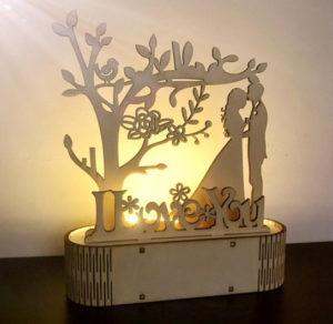 Dřevěný ornament z AliExpress
