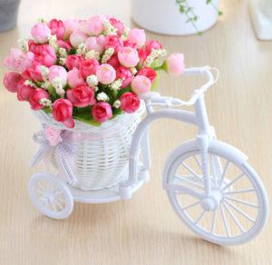 Květiny ve stojánku z AliExpress